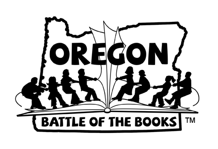 Oregon Battle of the Books logo black and white